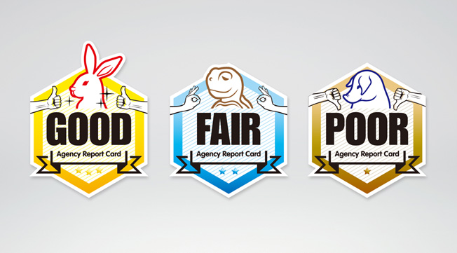 Agency Report Card Grading Sticker, Campaign Asia-Pacific Magazine