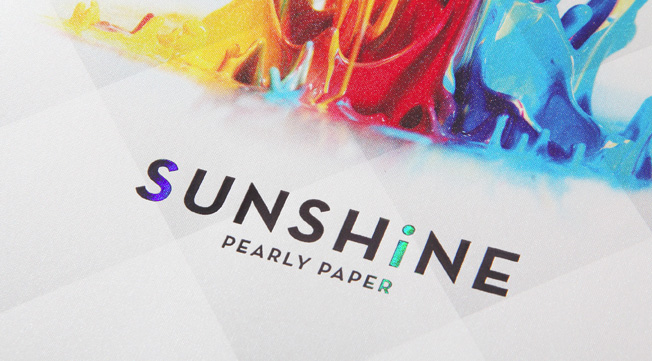 SUNSHINE Pearly Paper Swatches